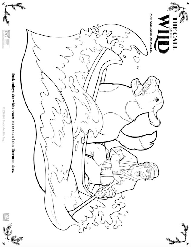 The Call of the Wild Coloring Sheet
