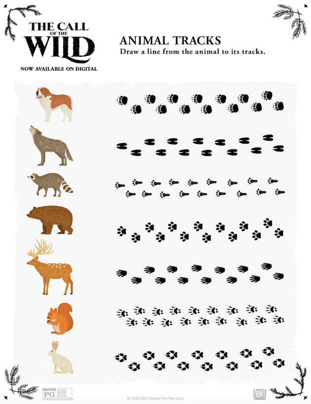 The Call of the Wild Printable Animal Tracks