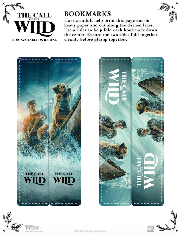 The Call of the Wild Printable Bookmarks