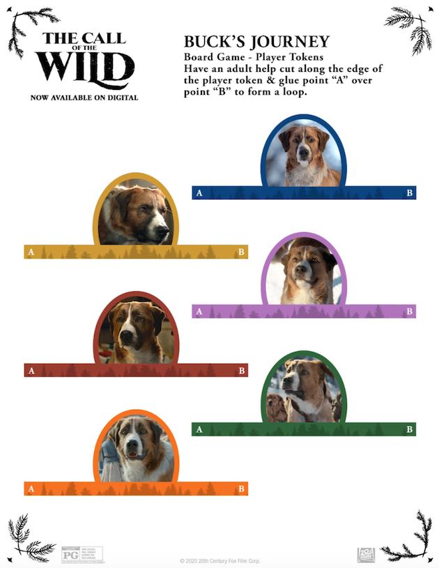 The Call of the Wild Printable Bucks Journey Game