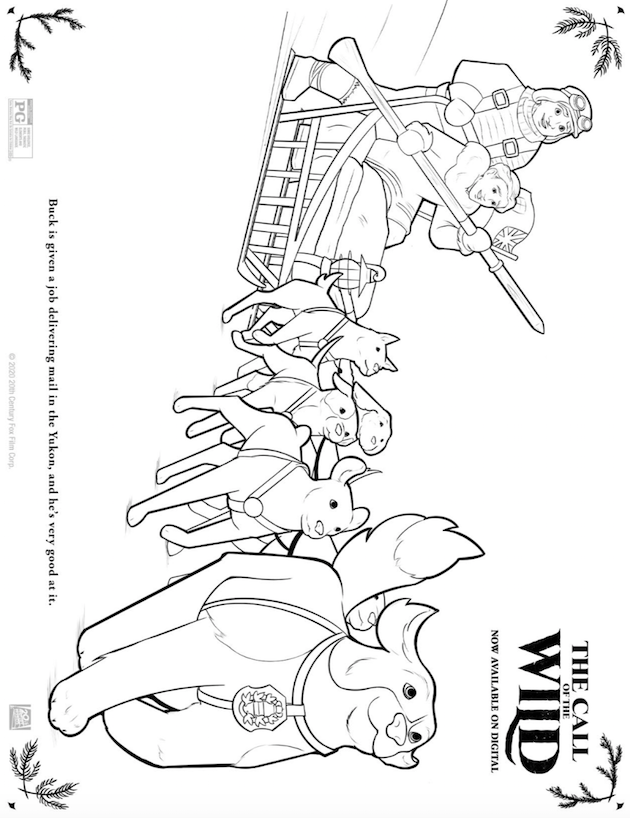 The Call of the Wild Printable Coloring Sheet