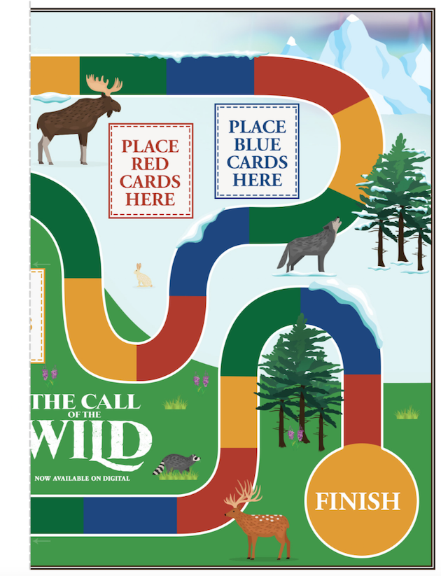 The Call of the Wild Printable Game Board Bucks Journey