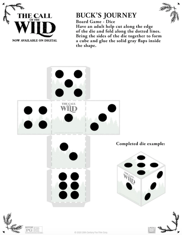 The Call of the Wild Printable Game Pieces