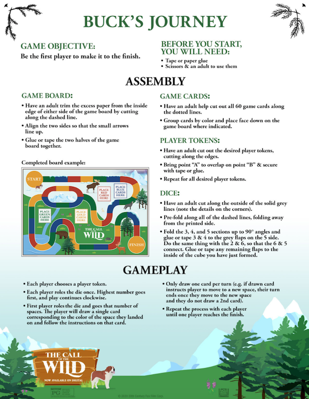 The Call of the Wild Printable Game