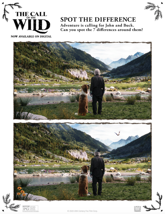 The Call of the Wild Printable Spot the Difference