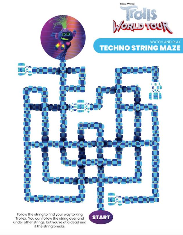 Trolls Printable Maze