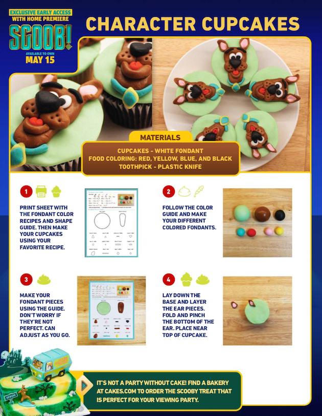 Scooby Doo Character Cupcakes