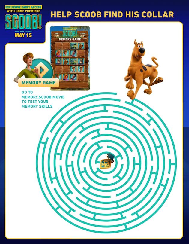 Scooby Doo Printable Maze
