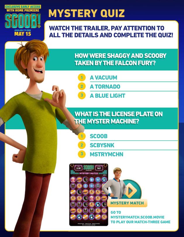 Scooby Doo Printable Mystery Quiz