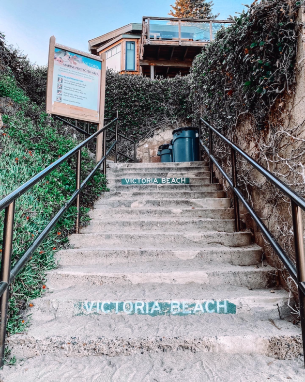 Steps Victoria Beach
