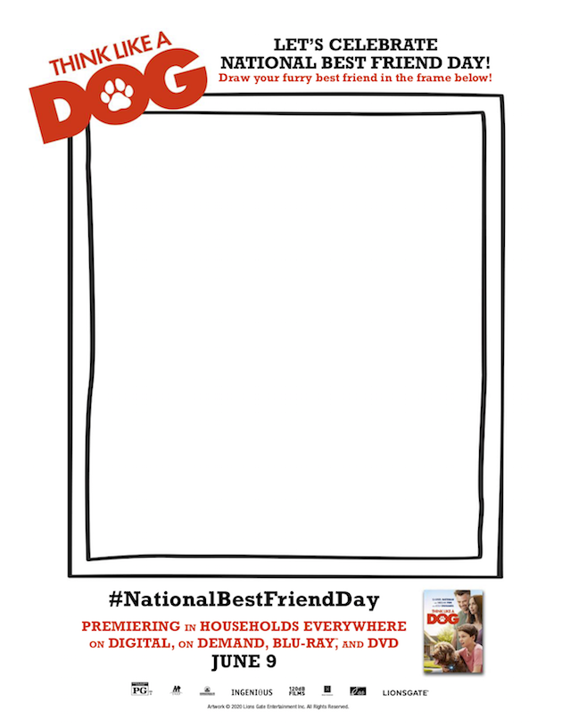 Think Like A Dog Best Friends Day Drawing Activity
