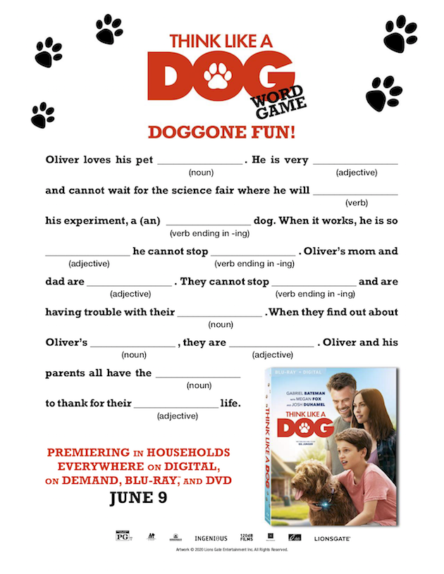 Think Like A Dog Word Game