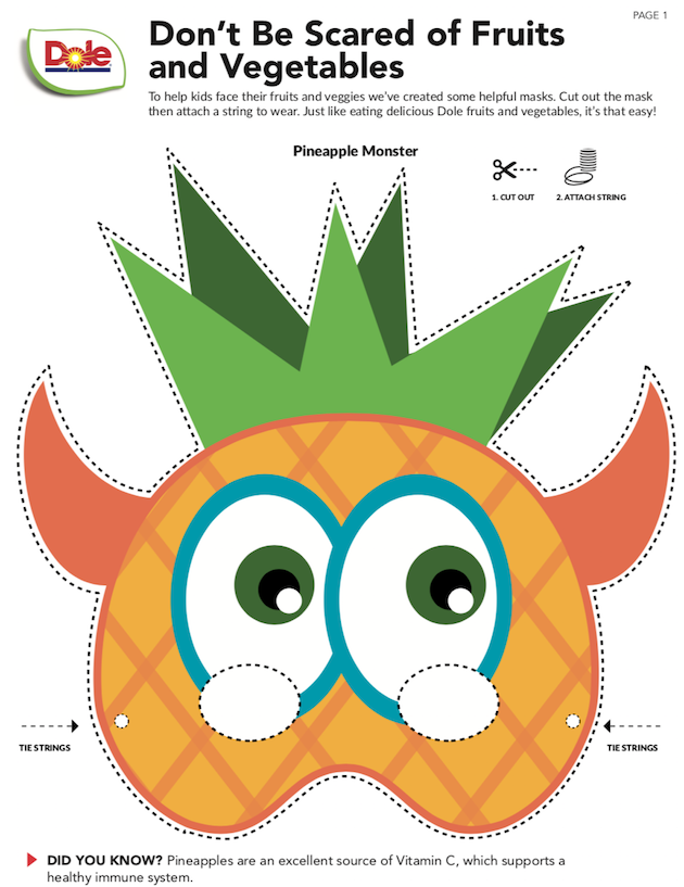 Dole Pineapple Mask