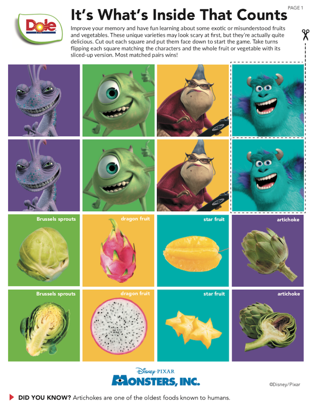 Monsters Inc Memory Game